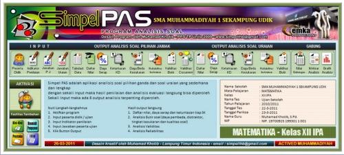 menu simpel PAS