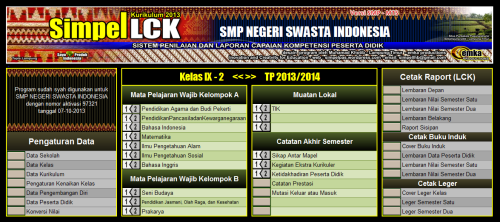 menu utama LCK SMP
