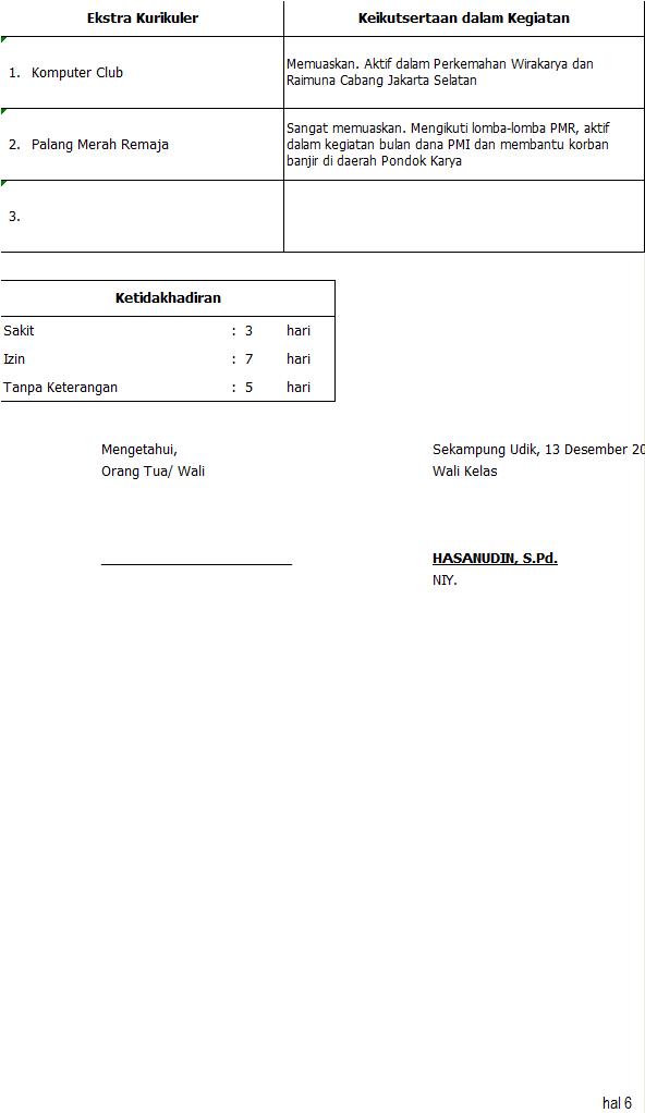 Fasilitas Simpel LCK SMP
