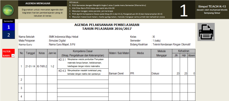 menu-agenda